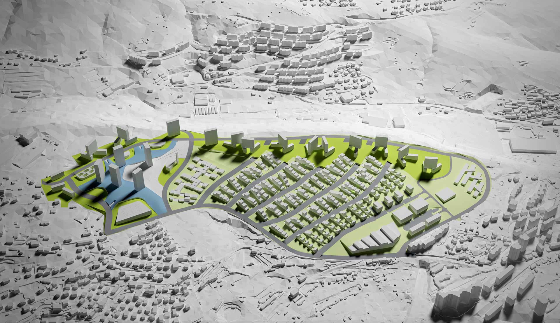 3D visualisation urban planning