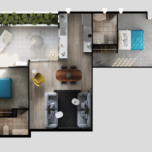 Arhitectural visualisation floor plan